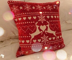 christmas, red, and pillow image
