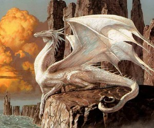 dragon, white, and white dragon image