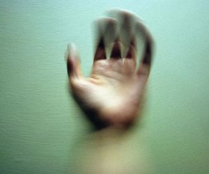 green and hand image