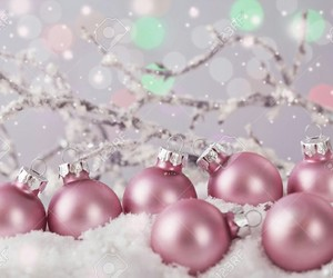 christmas, decorations, and pink image