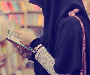 muslim, book, and hijab image