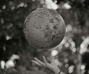 world, globe, and hand image