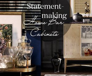 Architectural Digest and bone inlaid bar cabinet image