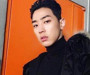 korean, korean boy, and orange image