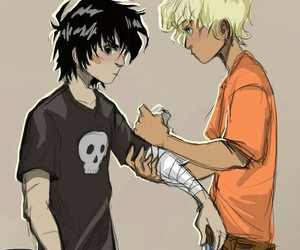 will solace, solangelo, and percy jackson image