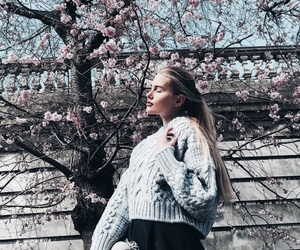 girl, fashion, and spring image