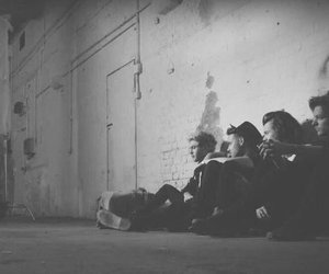 black and white, one direction, and liam payne image