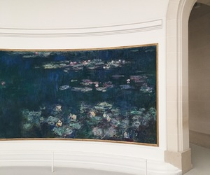 aesthetic, blue, and claude monet image