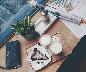 cake, chill, and coffee image