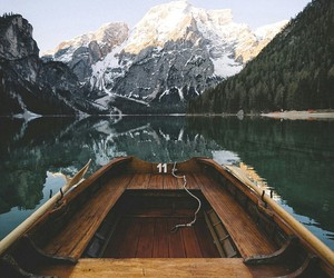 boat, nature, and lake image