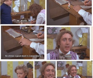 book, charlie and the chocolate factory, and Gene Wilder image