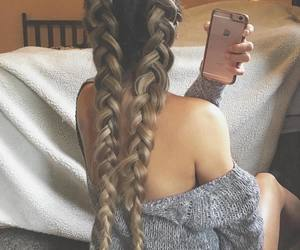 beautiful, braid, and fashion image