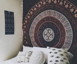 bedroom, style, and wall image