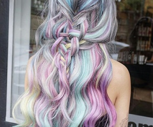 hair, blue, and colors image