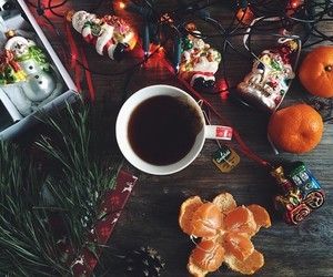 christmas, winter, and tea image