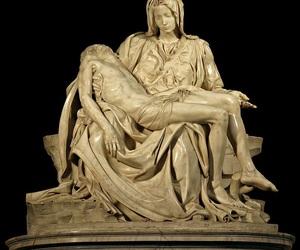michelangelo, sculpture, and art image