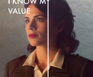 captain america, Marvel, and peggy carter image