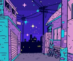 wallpaper, night, and purple image