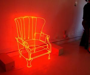 glow, neon, and orange image