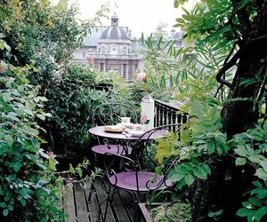 garden, green, and balcony image