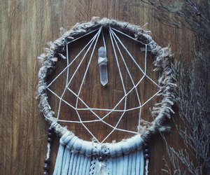 art, crystal, and dreamcatcher image