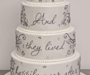 cake, disney, and wedding image