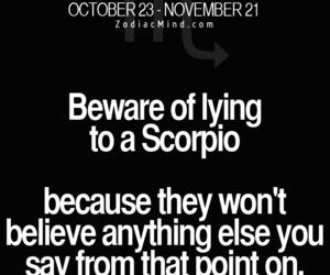 lie, scorpio, and trust image