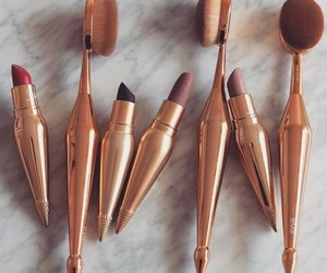 makeup, lipstick, and Brushes image