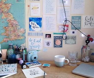 design, desk, and map image