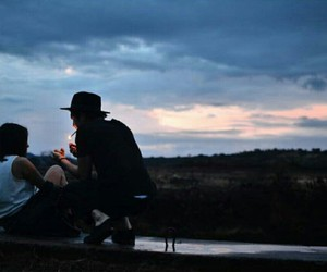 couple, grunge, and smoke image