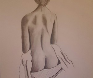 black and white, pencil, and drawing image