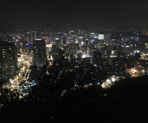 asia, city lights, and korea image