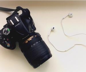 camera, girly, and headphones image