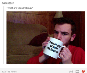 funny, tumblr, and cup image