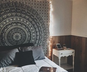room, hipster, and bedroom image