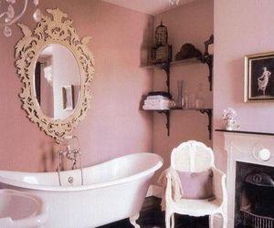 pink, bathroom, and vintage image
