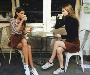 friends, coffee, and adidas image