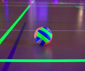 neon and volleyball image