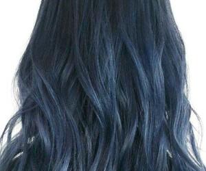 blue, hair, and dark image