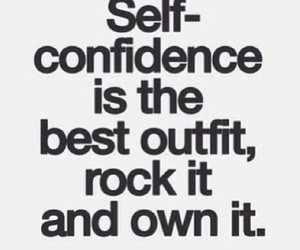 quote, confidence, and inspiration image
