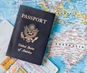 airplane, map, and passport image