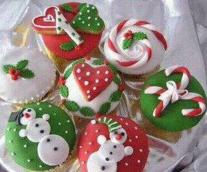 christmas, cupcake, and food image