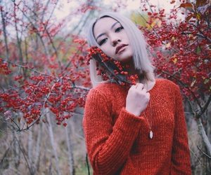 blonde, cold, and fall image