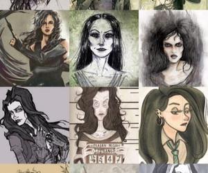 fanart, harry potter, and bellatrix lestrange image