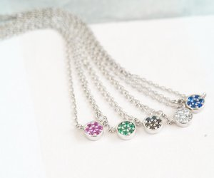 beaded necklace, crystal necklace, and pendant necklace image