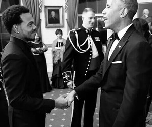 barack obama and chance the rapper image