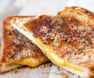 food, grilled cheese, and garlic image