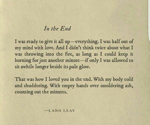 Lang Leav, poem, and quotes image