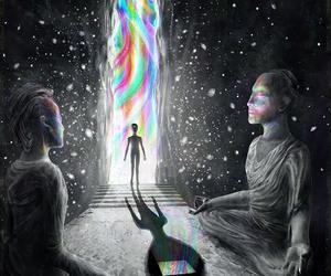meditation and universe image