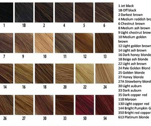 color chart and hair color image